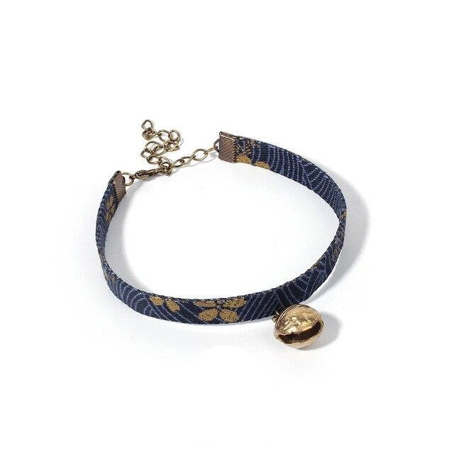 Japanese Pet Collar with Bell