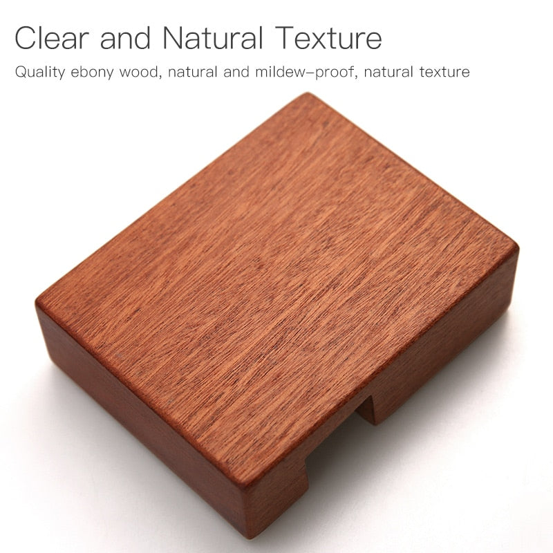 Ebony Wood Chopping Block Holder Made of natural solid whole wood fit for 2.3-2.5 height boards kitchen tools cutting board stand