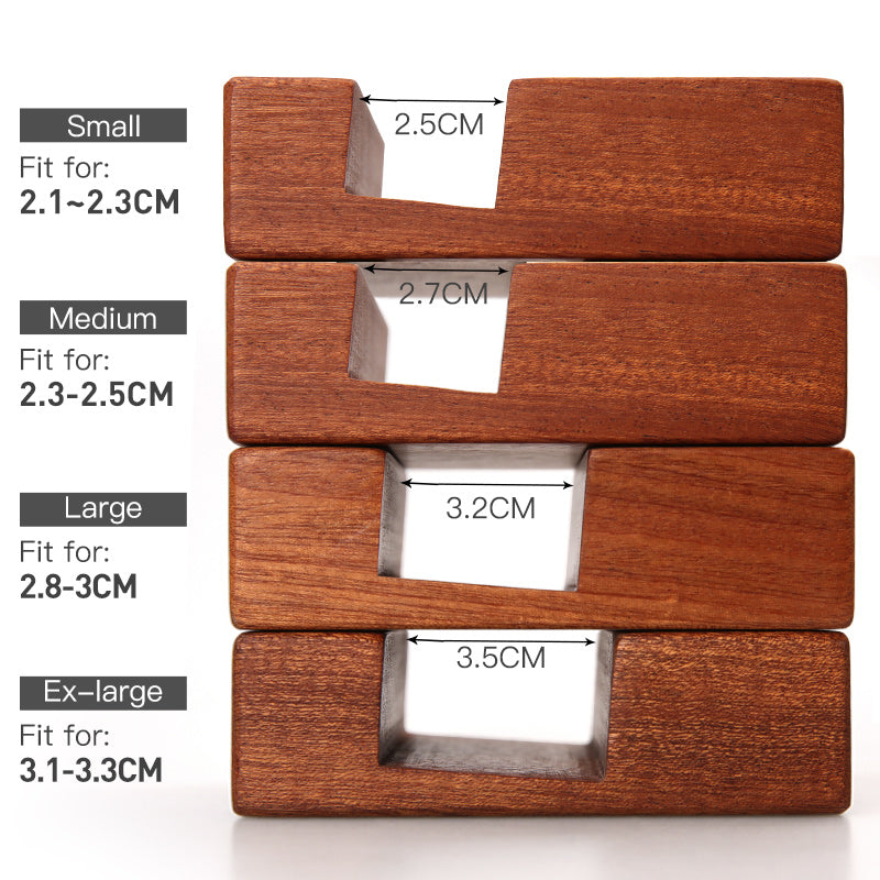 Ebony Wood Chopping Block Holder Made of natural solid whole wood fit for 2.3-2.5 height boards kitchen tools cutting board stand Size Chart