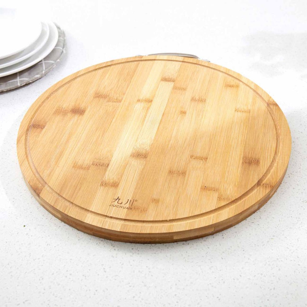 Large Round Wooden Chopping Block