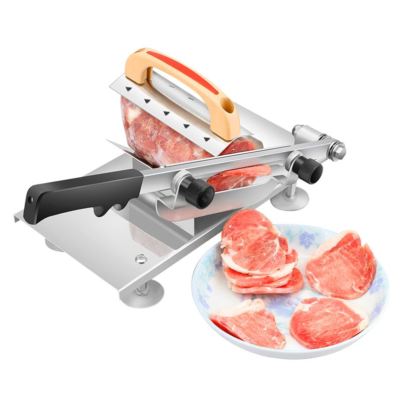 Multi Function Meat Slicer Manual Adjustable Thickness Meat Mutton Beef Cutter Slicing Machine Kitchen Tool