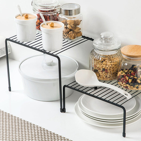 Iron Storage Rack Closet Shelf Dish Drying Racks Spice Jars Holder Seasoning Spice Bottles Shelves Kitchen Organizer
