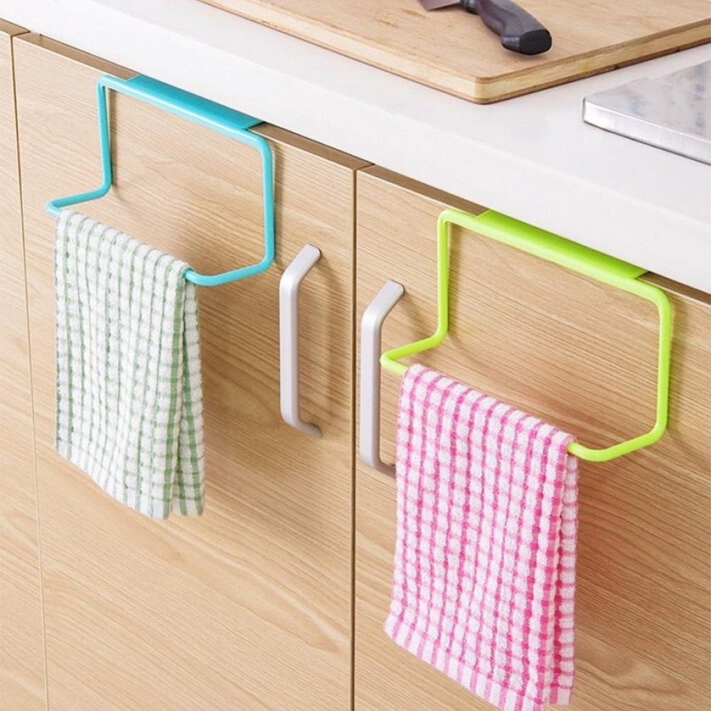 1 Piece Portable Kitchen Cabinet Over Door Hanging Towel Rack Holder Bathroom Hanger#226217
