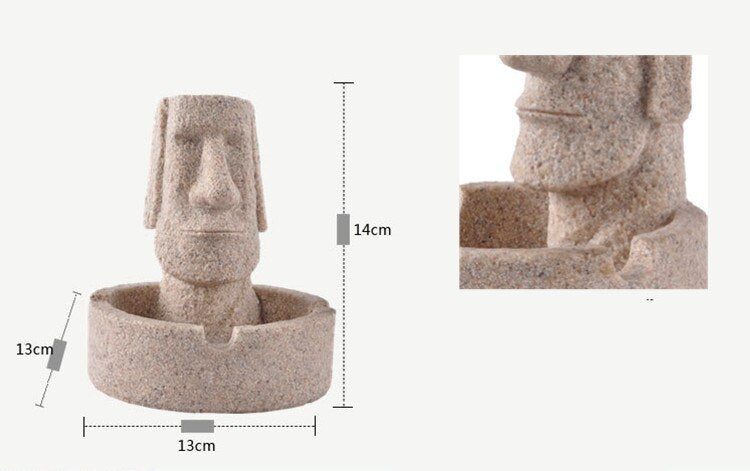 Easter Island Sandstone Ashtray