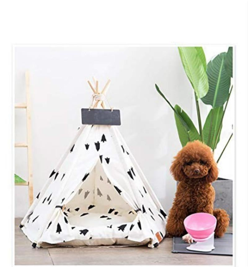 Teepee Pet Tent with Thick Cushion