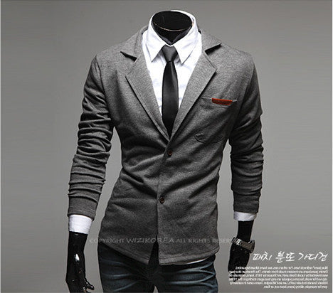 New Fashion Casual Slim Design Stylish Two-Button Suit Men Blazer Coat Jackets Casual Solid Men Garment 3 Colors  M-XXL