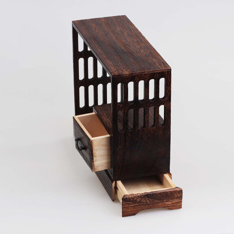 Japanese Antique Wooden Tea Cabinet Wall Shelf Wood Home Decor Accessories Japan Design