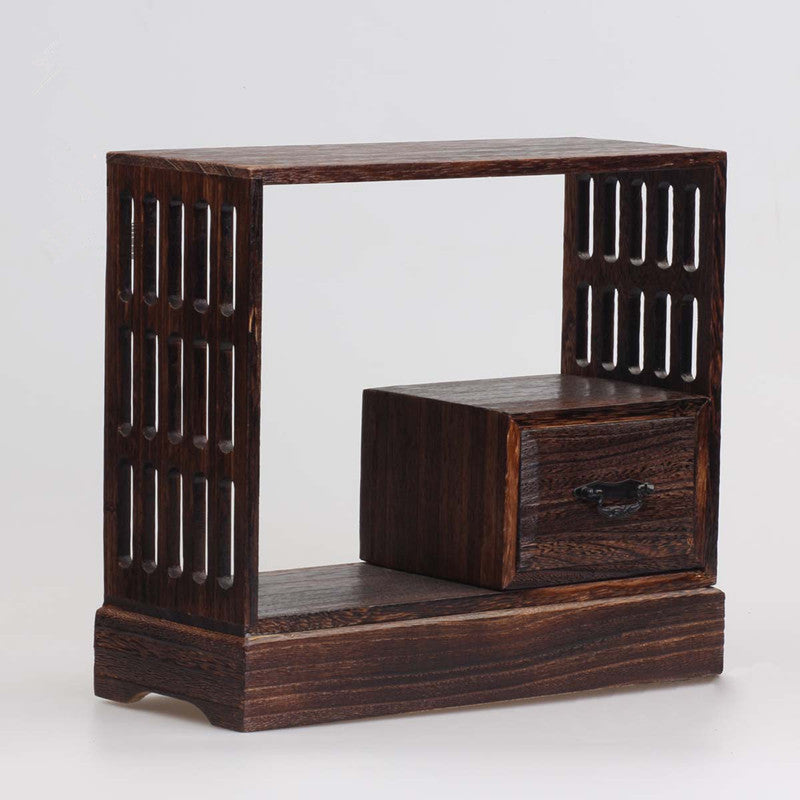Japanese Antique Wooden Tea Cabinet Wall Shelf Wood Home Decor Accessories Japan Design B
