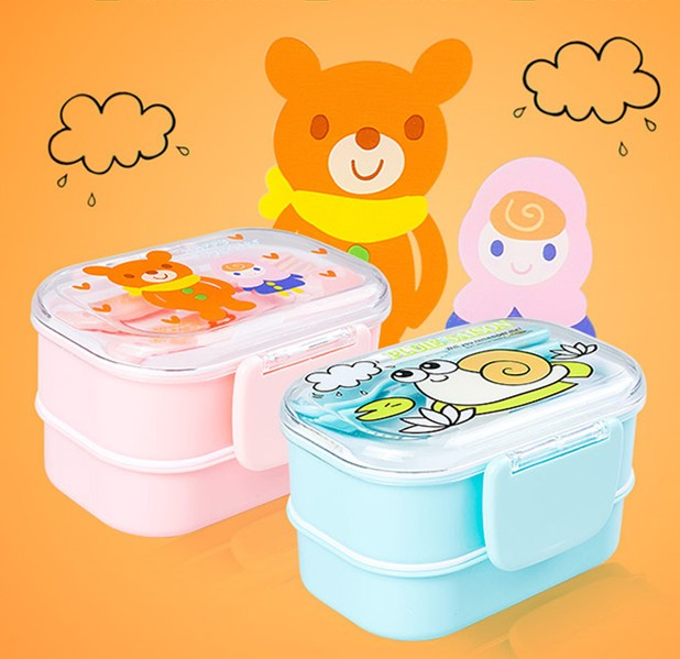 Kids Bento Lunch Boxes Pink Blue Bento Box Style D