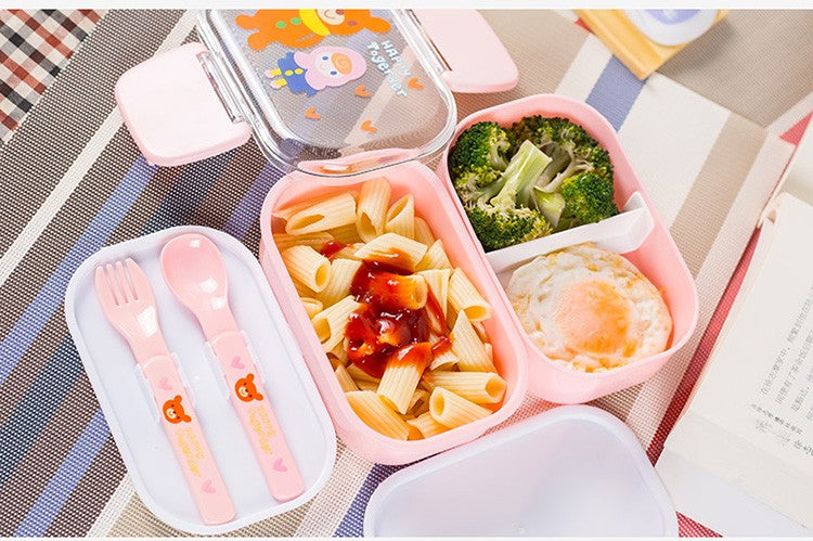 Kids Bento Lunch Boxes Pink Bento Box Style C