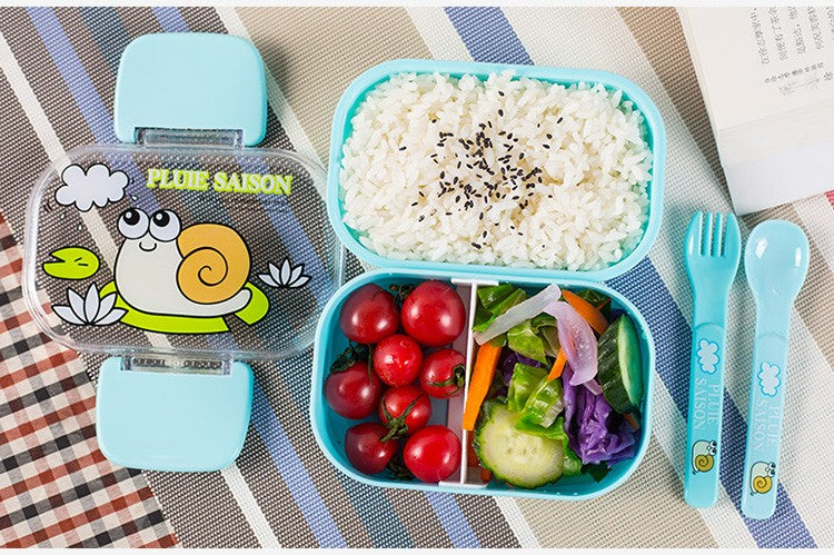 Kids Bento Lunch Boxes Blue Bento Box Style