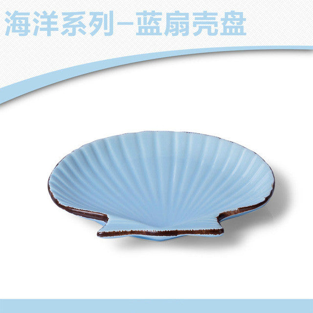 Creative tableware white seafood dishes ceramic butter plate dinner plates white porcelain tray dinner fish shaped  plates