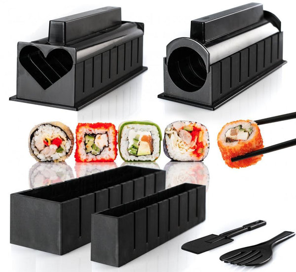 10 Piece Set DIY Sushi Onigiri Rice Mould Maker Bento Accessories