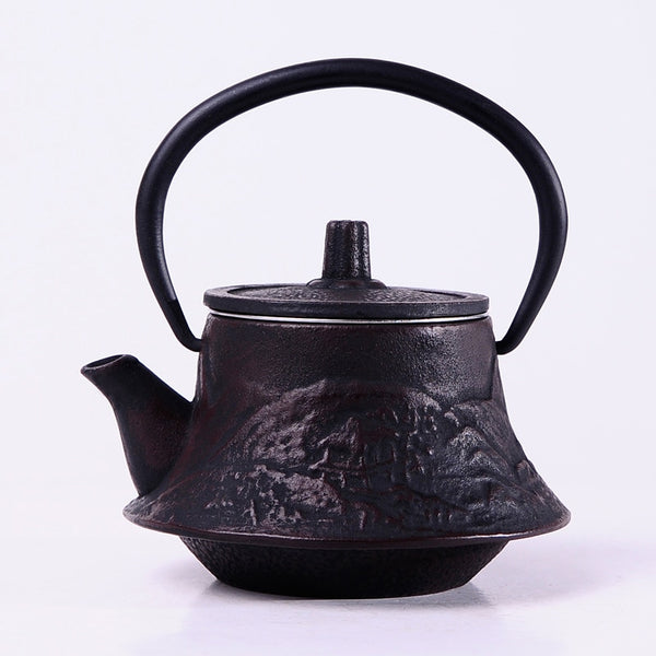 Japanese Mount Fuji Black Cast Iron Teapot Kettle Japan tea pot kitchen dinning ware cook ware tea kettle