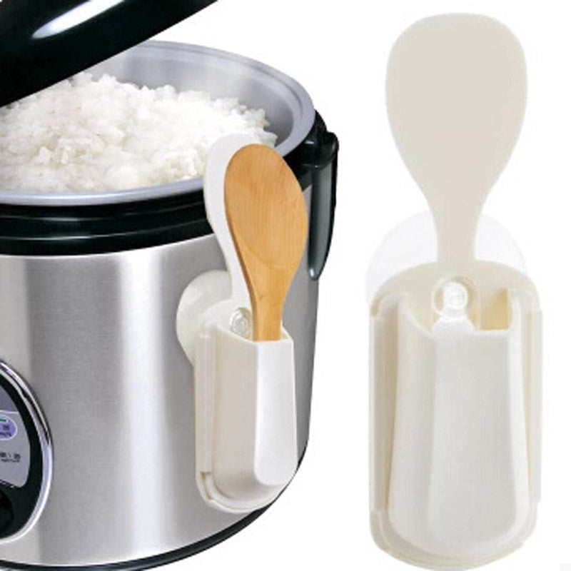 Portable Rice Cooker Spoon Holder Kitchen Organizer Tools Rice Spoon Stand