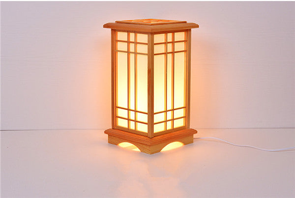 Modern Japanese Floor Lamps Washitsu Tatami Decor Window Pane Lamp Restaurant Living Room Hallway Lighting Home Design Wood Lamp