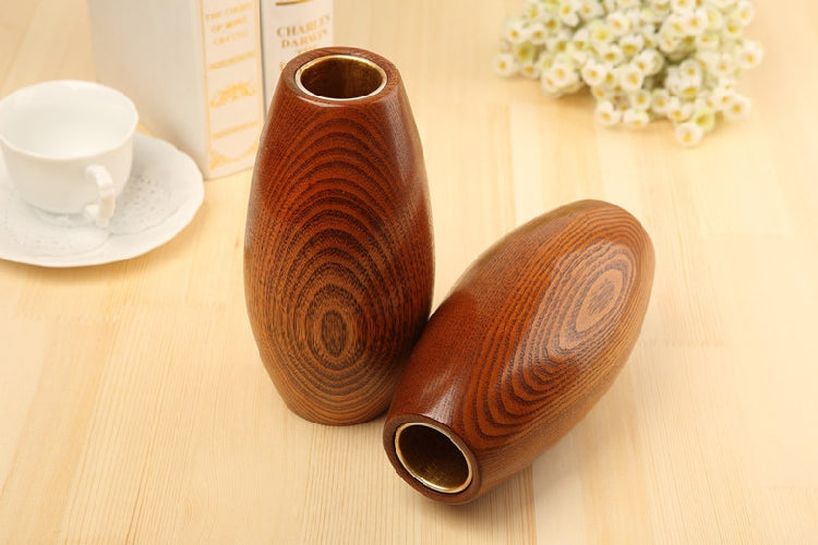 Japanese Solid Wooden Oval Flower Vases Japan Home Decor Accessories Wood Vase Design E