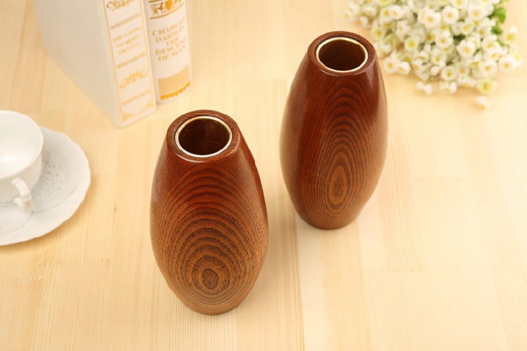 Japanese Solid Wooden Oval Flower Vases Japan Home Decor Accessories Wood Vase Design F