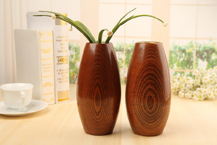 Japanese Solid Wooden Oval Flower Vases Japan Home Decor Accessories Wood Vase Design D