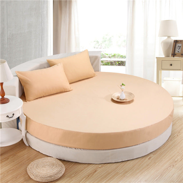 Japanese Camel cotton round fitted 3 Piece Bedding Set