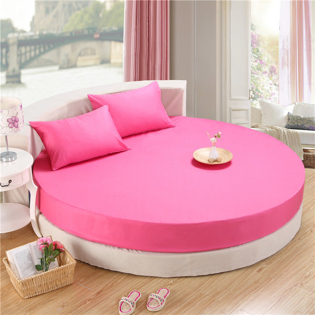 Japanese yanzhi red cotton round fitted 3 Piece Bedding Set