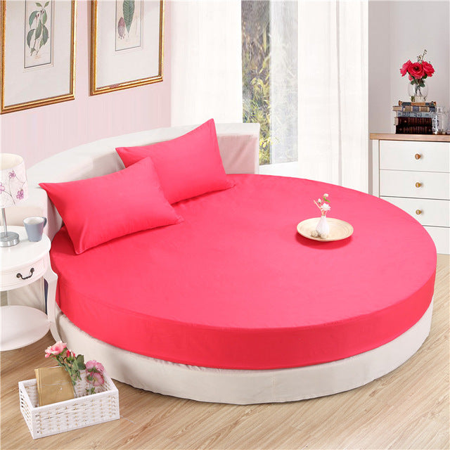Japanese zhuanhong cotton round fitted 3 Piece Bedding Set