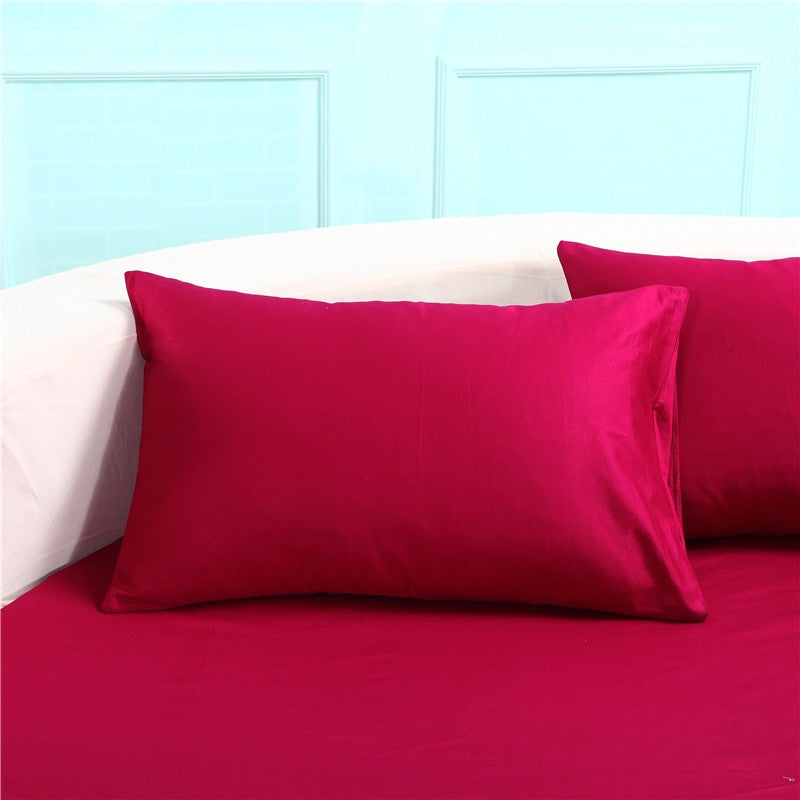 Japanese Pink cotton round fitted Bedding Set - 未定義 miTeigi