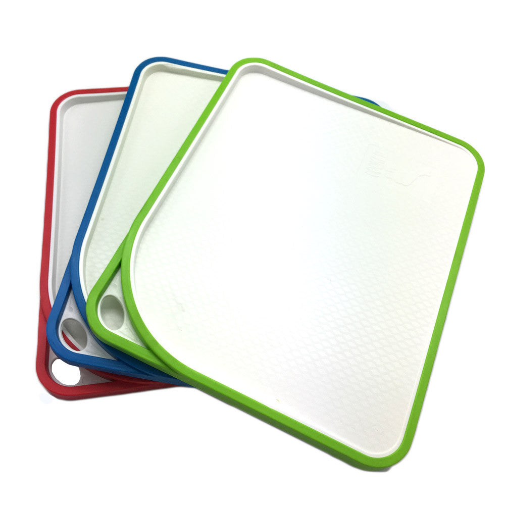 New design Over double Cutting Board  Non-Slip Plastic Kitchen Cutting Chopping Board Blocks  double side angle cutting surface