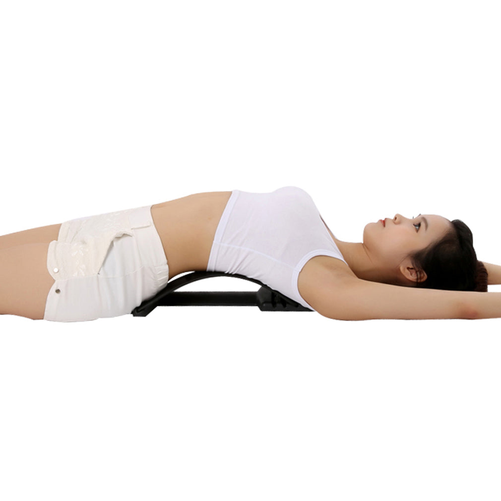 Back Massage Stretching Magic Back Neck Traction Stretcher Waist Relax Lumbar Support Spine Pain Relief Chiropractic Equipment