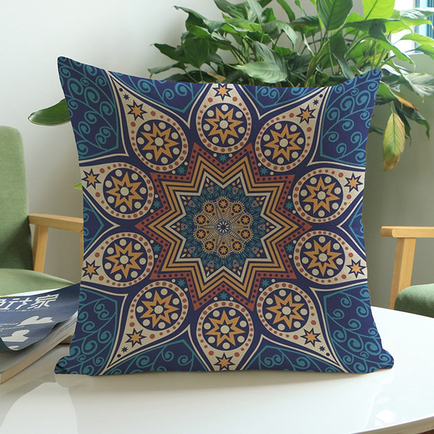 Thai Blue Meditation Pillow Cushion Covers
