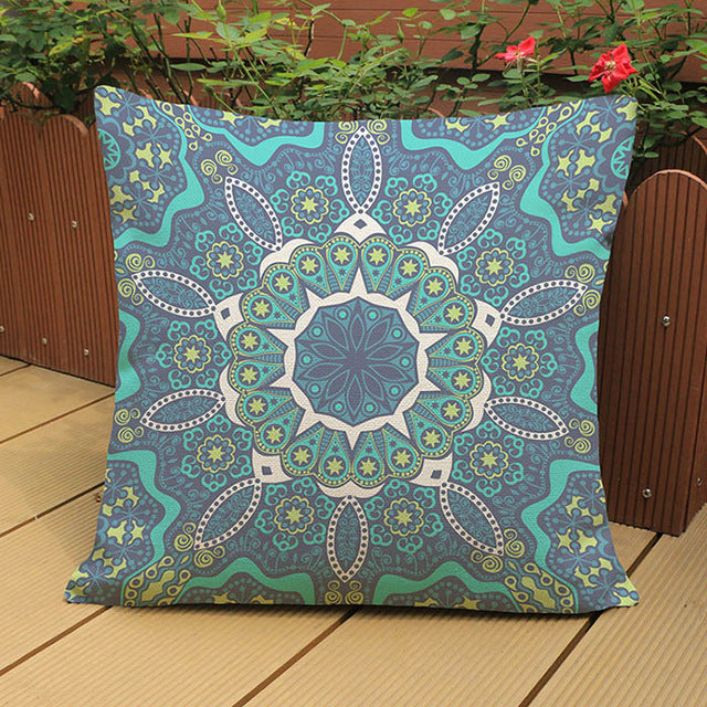 Thai Light Green Meditation Pillow Cushion Covers