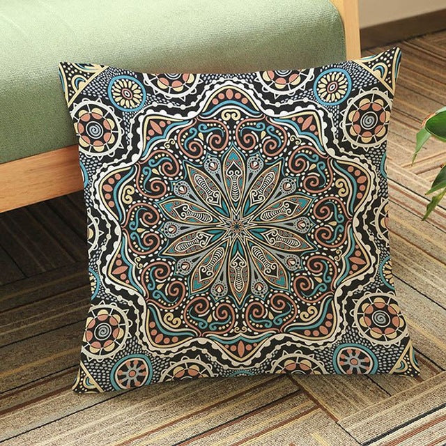 Thai Black Meditation Pillow Cushion Covers