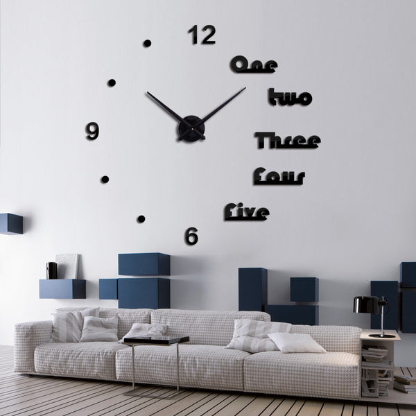 Black 3D Letters wall clocks