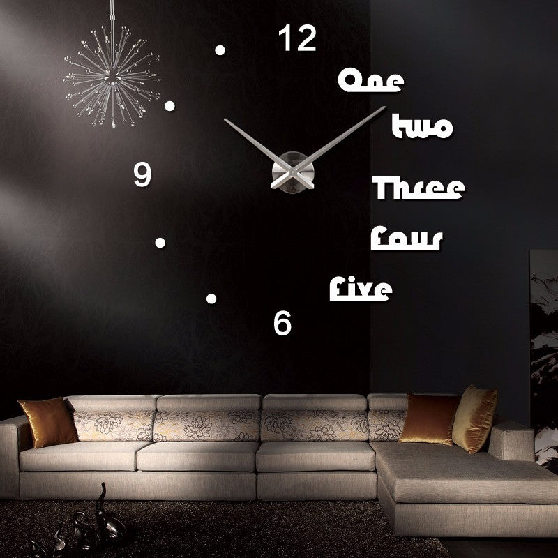 White 3D Letters wall clocks