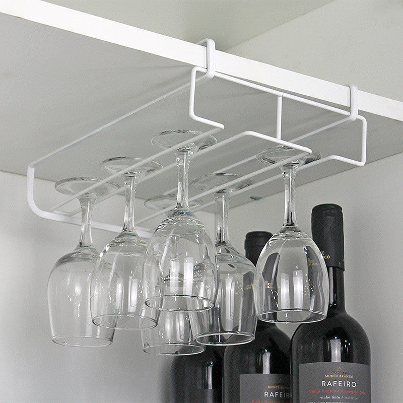 New Kitchen Practical Wine Holder Stemware Wine Rack Under Cabinet Storage Organizer Glass Holder