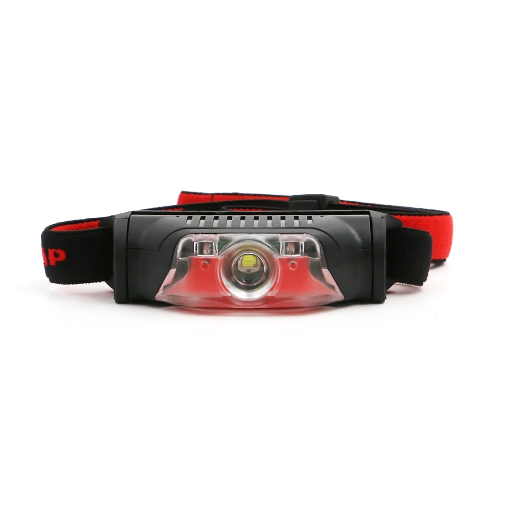 Cool 4 Modes Red Black Mini Headlamp 1*XPE+2*LED AA Battery High Power Head Torch Light Outdoor Camping Skateboarding Flashlight Street Sport