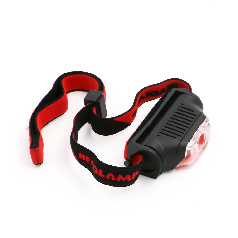 Trendy 4 Modes Red Black Mini Headlamp 1*XPE+2*LED AA Battery High Power Head Torch Light Outdoor Camping Skateboarding Flashlight Street Sport