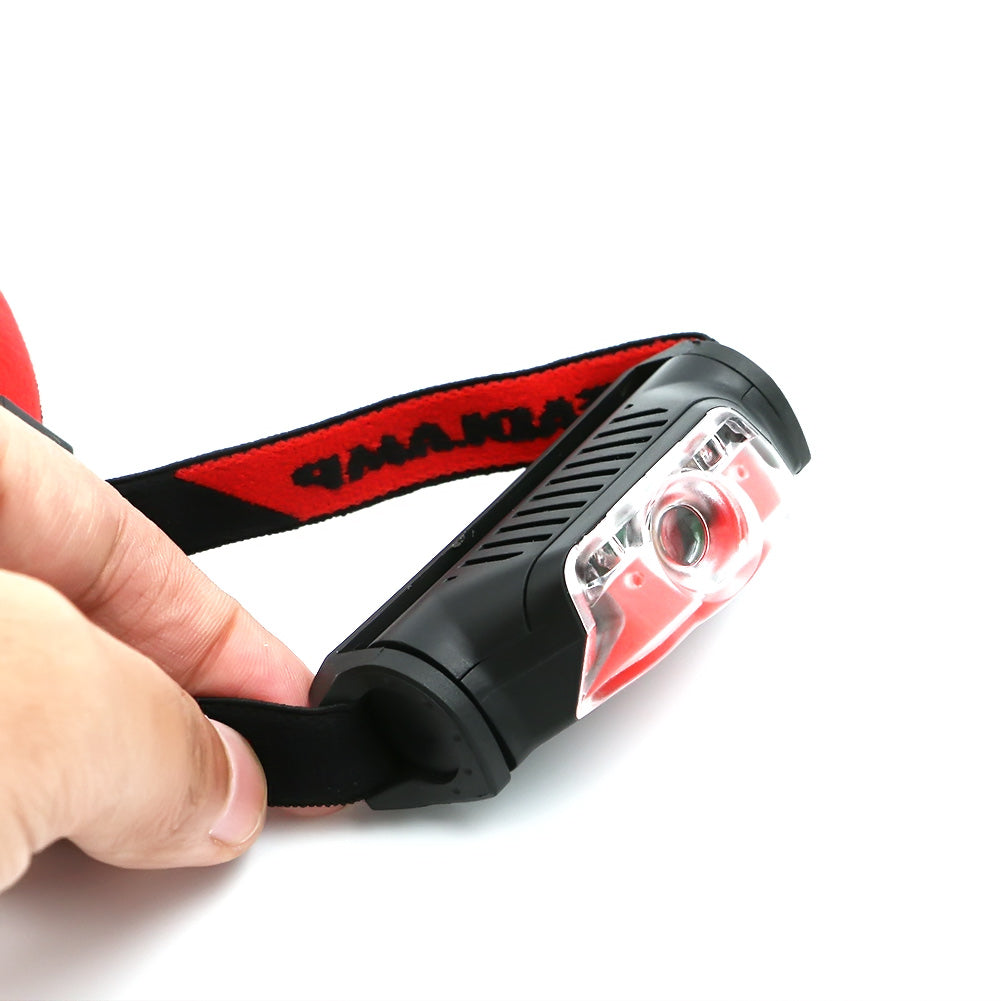 Trending 4 Modes Red Black Mini Headlamp 1*XPE+2*LED AA Battery High Power Head Torch Light Outdoor Camping Skateboarding Flashlight Street Sport