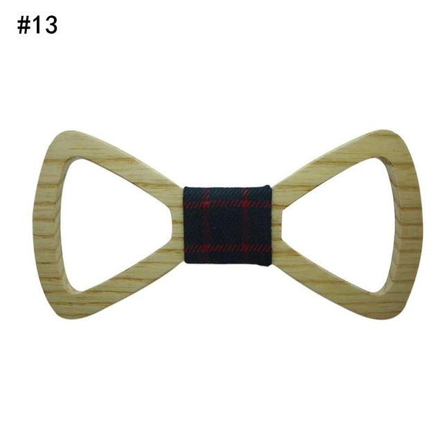 Fashion Mens Wooden Bow Tie Marry Wedding Party Men's Boy's Butterfly Wooden Shirt Bow Tie