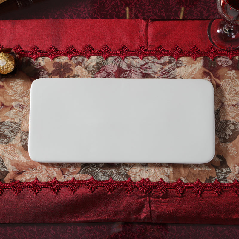 Luxury Western-style food baking Affirmative Japan flat ceramic tableware tray plate rectangular flat plate Japanese Sushi Platter