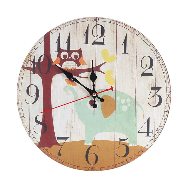 Large Numbers Wooden Wall Clock - 未定義 miTeigi