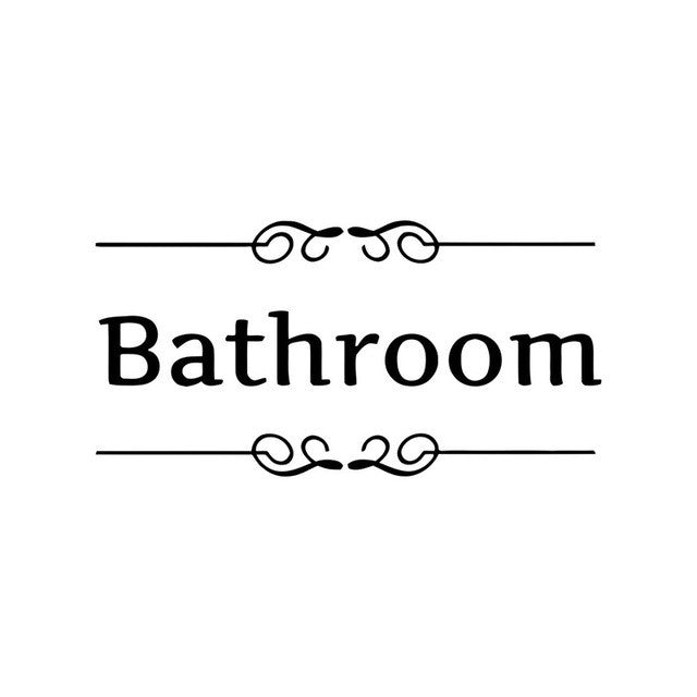Toilet Door Entrance Sign Stickers DIY Personalized Bathroom Decoration Wall Decals For Shop Office Home Cafe Hotel #87227
