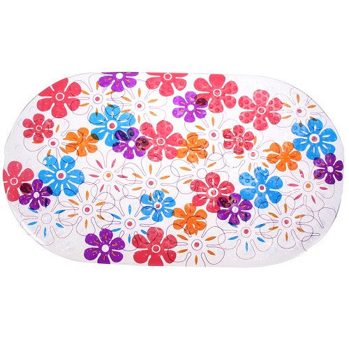 Pebble Chrysanthemum Dots Non Slip Bath Mat Bathtub Shower Mat PVC High Quality