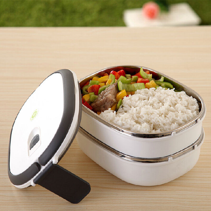 1400ml Thermal insulation stainless steel dinnerware students food container fruit Bento box