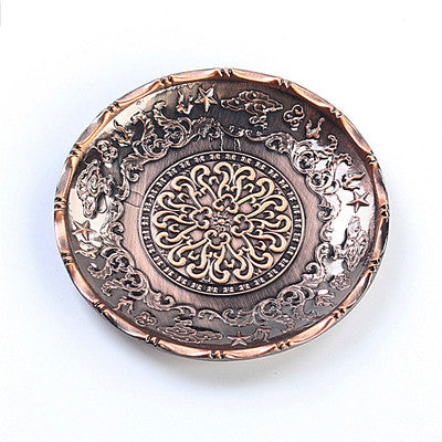 Classic Japanese Style Copper Cup Coasters Table Decoration Accessories High Quality Tea Ceremony Accessories