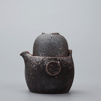 Three Styles Vintage Rust Glaze Portable Teapots Ceramic Travel Tea Pot Kung Fu Tea Setc1 Pot  1 Cup Hand Made Japanese Gaiwan