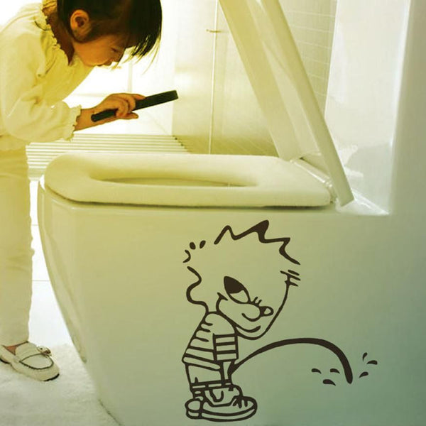 Naughty Kids Bad Boy Toilet Bathroom Decals Art Vinyl Glass Wall Stickers XT