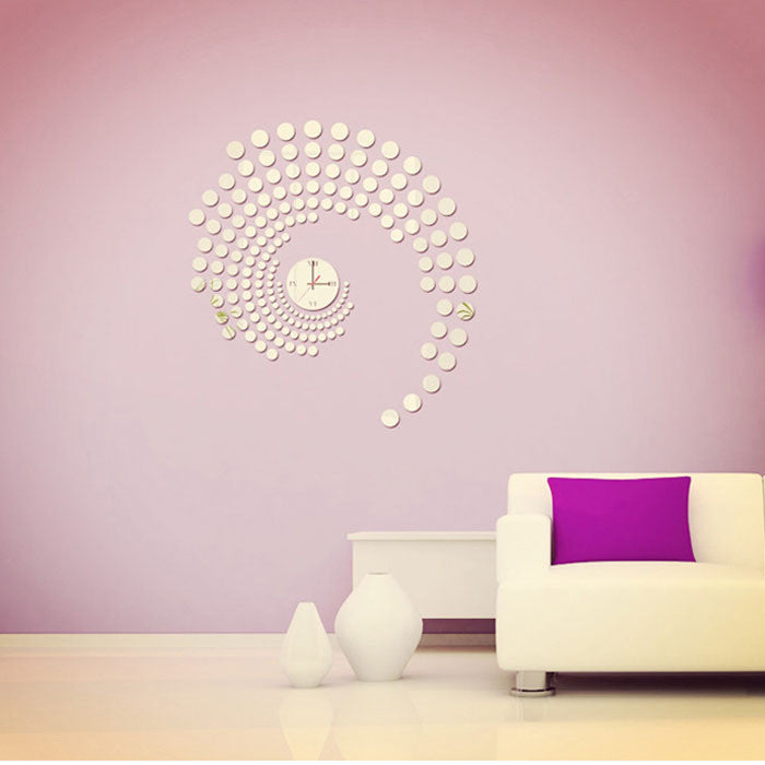 Peacock Dot Mirror Wall Sticker Home Decoration DIY Clock Wall Stickers Home Decoration Removable Vinyl Wall stickers Art Decals