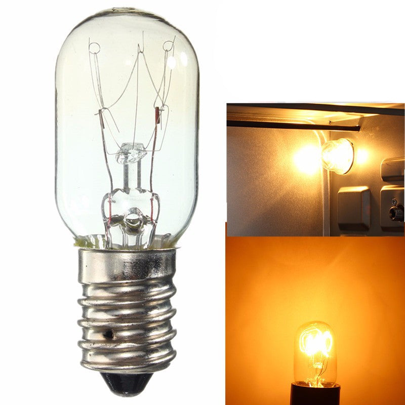 Fridge Light Bulb E14 Halogen Lamp Vintage Edison Bulb 15W 25W Warm White Mini Refrigerator Tungsten Filament Lighting 220-230V