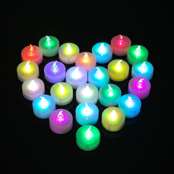 Candle wedding Candeles 12 Pieces LED Flameless Electronic Kaarsen Smokeless Colorful Flicker Tealight Decorative Bougies Velas Boda